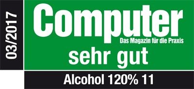 Computer Magazin Sehr gut - Alcohol 120% 11