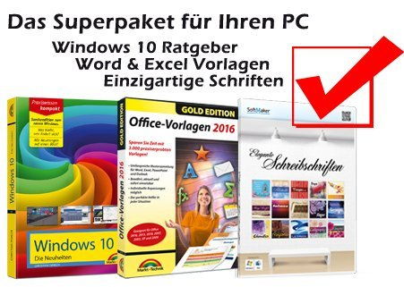 Office Vorlagen + Schreibschriften + Windows 10 Buch